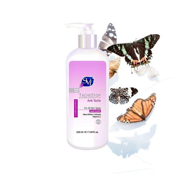 پن مایع ضد لک اس وی آی یک شوینده صورت سازگار با PH طبیعی پوست است که حاوی ترکیبات موثر روشن کننده غیر هیدروکینونی از جمله کمپلکس نانو وایت و آربوتین است.
